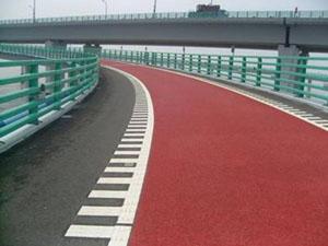 彩色防滑路面城市道路
